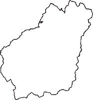 鳥取県日野郡江府町(こうふちょう)の白地図無料ダウンロード