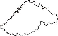島根県浜田市(はまだし)の白地図無料ダウンロード