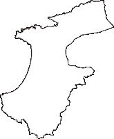 島根県出雲市(いずもし)の白地図無料ダウンロード