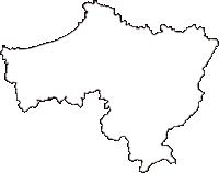 島根県益田市(ますだし)の白地図無料ダウンロード