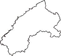 島根県大田市(おおだし)の白地図無料ダウンロード
