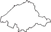 島根県江津市(ごうつし)の白地図無料ダウンロード