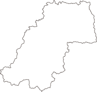 島根県雲南市(うんなんし)の白地図無料ダウンロード