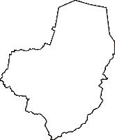 島根県八束郡東出雲町(ひがしいずもちょう)の白地図無料ダウンロード