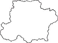 島根県仁多郡奥出雲町(おくいずもちょう)の白地図無料ダウンロード