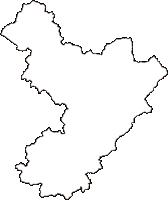 島根県飯石郡飯南町(いいなんちょう)の白地図無料ダウンロード
