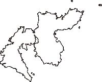 島根県隠岐郡西ノ島町(にしのしまちょう)の白地図無料ダウンロード