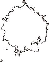 島根県隠岐郡隠岐の島町(おきのしまちょう)の白地図無料ダウンロード