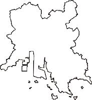 岡山県倉敷市(くらしきし)の白地図無料ダウンロード