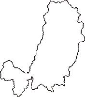 岡山県津山市(つやまし)の白地図無料ダウンロード