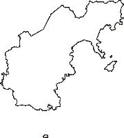 岡山県玉野市(たまのし)の白地図無料ダウンロード