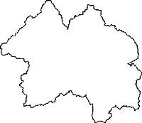 岡山県総社市(そうじゃし)の白地図無料ダウンロード
