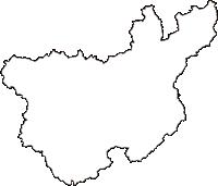 岡山県高梁市(たかはしし)の白地図無料ダウンロード