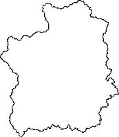 岡山県新見市(にいみし)の白地図無料ダウンロード