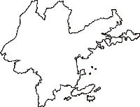岡山県瀬戸内市(せとうちし)の白地図無料ダウンロード