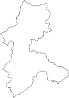 岡山県赤磐市(あかいわし)の白地図無料ダウンロード
