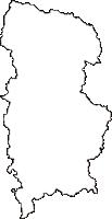 岡山県真庭市(まにわし)の白地図無料ダウンロード