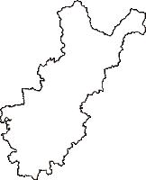 岡山県美作市(みまさかし)の白地図無料ダウンロード
