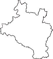 岡山県和気郡和気町(わけちょう)の白地図無料ダウンロード
