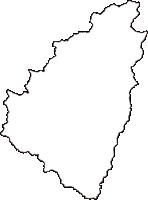 岡山県苫田郡鏡野町(かがみのちょう)の白地図無料ダウンロード
