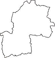 岡山県勝田郡勝央町(しょうおうちょう)の白地図無料ダウンロード