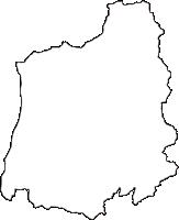 岡山県勝田郡奈義町(なぎちょう)の白地図無料ダウンロード