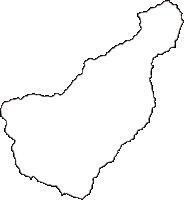 岡山県英田郡西粟倉村(にしあわくらそん)の白地図無料ダウンロード