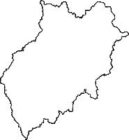 岡山県加賀郡吉備中央町(きびちゅうおうちょう)の白地図無料ダウンロード