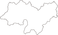 広島県広島市安佐北区(あさきたく)の白地図無料ダウンロード