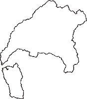 広島県広島市安芸区(あきく)の白地図無料ダウンロード