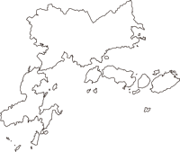 広島県呉市(くれし)の白地図無料ダウンロード