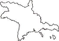 広島県竹原市(たけはらし)の白地図無料ダウンロード