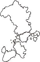 広島県尾道市(おのみちし)の白地図無料ダウンロード