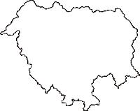 広島県庄原市(しょうばらし)の白地図無料ダウンロード