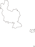 広島県大竹市(おおたけし)の白地図無料ダウンロード