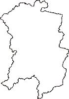 広島県安芸高田市(あきたかたし)の白地図無料ダウンロード