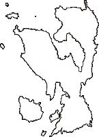 広島県江田島市(えたじまし)の白地図無料ダウンロード
