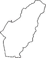 広島県安芸郡府中町(ふちゅうちょう)の白地図無料ダウンロード