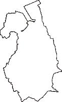 広島県安芸郡坂町(さかちょう)の白地図無料ダウンロード