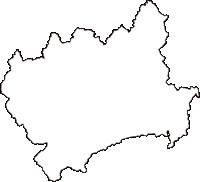 広島県山県郡安芸太田町(あきおおたちょう)の白地図無料ダウンロード