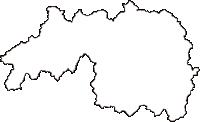 広島県山県郡北広島町(きたひろしまちょう)の白地図無料ダウンロード