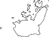広島県豊田郡大崎上島町(おおさきかみじまちょう)の白地図無料ダウンロード