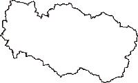 広島県世羅郡世羅町(せらちょう)の白地図無料ダウンロード
