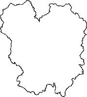 広島県神石郡神石高原町(じんせきこうげんちょう)の白地図無料ダウンロード