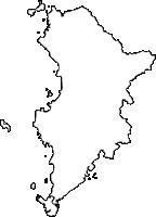 山口県下関市(しものせきし)の白地図無料ダウンロード