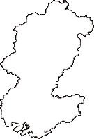 山口県宇部市(うべし)の白地図無料ダウンロード