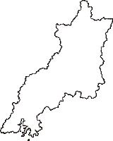 山口県山口市(やまぐちし)の白地図無料ダウンロード