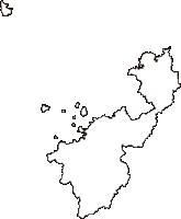 山口県萩市(はぎし)の白地図無料ダウンロード