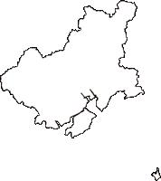 山口県防府市(ほうふし)の白地図無料ダウンロード