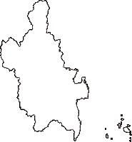 山口県岩国市(いわくにし)の白地図無料ダウンロード